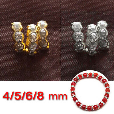 Czech Crystal Rhinestone Wavy Rondelle Spacers Beads 4mm 5mm 6mm 8mm x 100