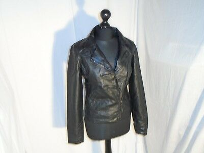 Black Soft Leather Feel Biker Jacket, Age 14-15yrs, Tammy from BHS