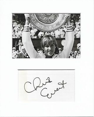 Chris Evert Tennis authentic hand signed autograph signature and photo AFTAL COA
