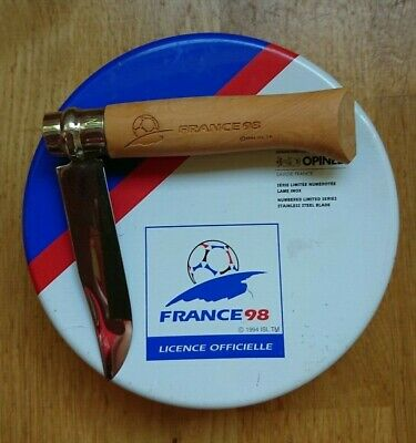 Opinel Knife N ° 8 Coupe De Foot France 98 Canif Knife 1998 Worldcup