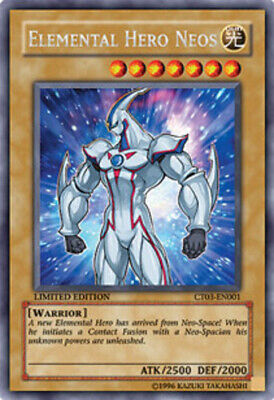 1x - Elemental Hero Neos - CT03-EN001 - Secret Rare - Limited Edition DMG YuGiOh