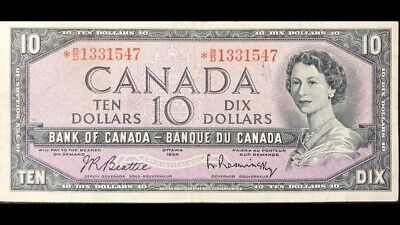 1954 Bank Of Canada 10$ Replacement *B/D