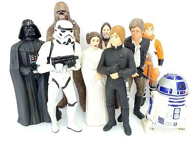 Rare Out Of Character Star Wars Figure Lot Luke, Leia, Chewbacca, Darth Vader ++