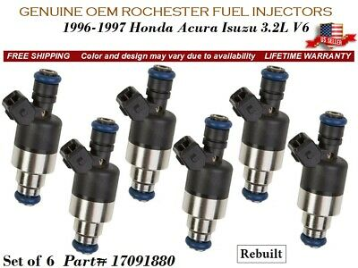 ROCHESTER FUEL INJECTORS 6X for 1995-1999 CHEVY MONTE CARLO  3.1L#17103007