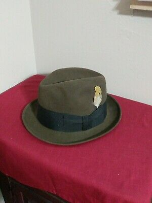 Vintage Knox New York Brown Fedora Hat Size 7 1/8