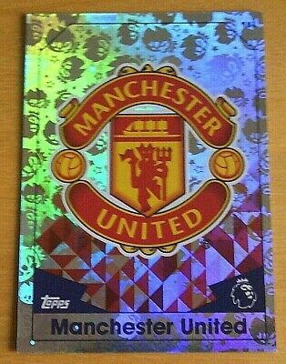 Topps MATCH ATTAX 2016/17 - MANCHESTER UNITED Club Badge Foil Card - Number 181.