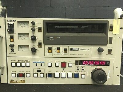 "Sony BVU-900 3/4"" Umatic SP Player  Tested For Power MW"