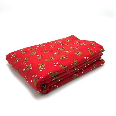 """VIP Cranston Print Works Co Bears Hearts Red Fabric 6 Yards x 45"""" 100% Cotton"""