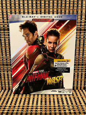 Ant-Man And The Wasp (1-Disc Blu-ray, 2018)+Slipcover.Avenger/Marvel.Part 2.Rudd