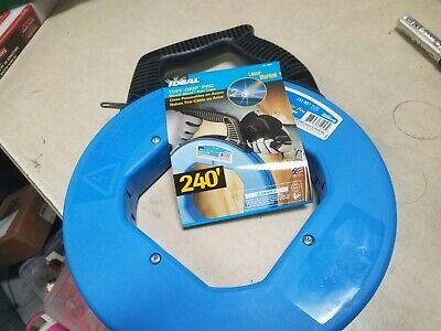 IDEAL 31-057 Fish Tape,1/8 In x 240 ft,Blued Steel New