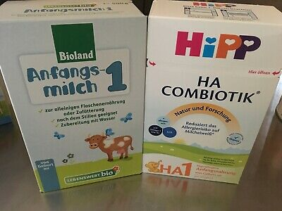 HiPP Combiotic HA1 and Holle Lebenswert-Bio Infant Formula - 2 Types to try