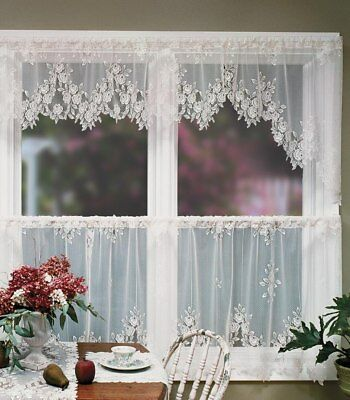 Heritage Lace Tea Rose Tier 60x30 White Made in USA