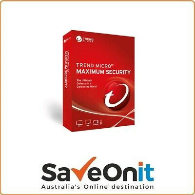 Trend Micro Maximum Security 2019 2 device / PC 1 year license key