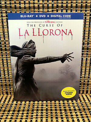 The Curse of La Llorona (2-Disc Blu-ray/DVD, 2019)+Slipcover.Conjuring 6.Horror