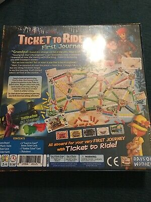 First Journey USA Ticket To Ride Board Game Days Of Wonder BRAND NEW IN PLASTIC
