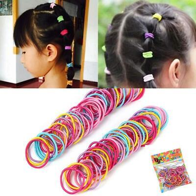 100Pcs Lot Kids Girl Elastic Rope Hair Ties Ponytail Holder Head Bands Hairbands