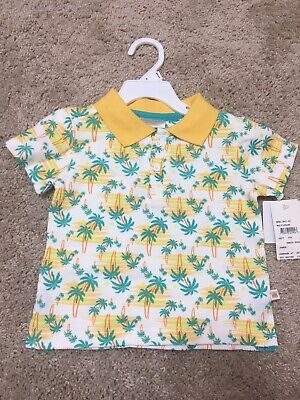 Rosie Pope Baby Boys Palm Tree Short Sleeve Cotton Polo Shirt Size 24 Months