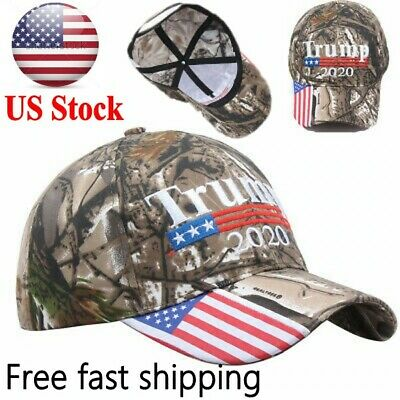 Trump 2020 MAGA Camo Embroidered Hat Keep Make America Great Again Cap US A+++++