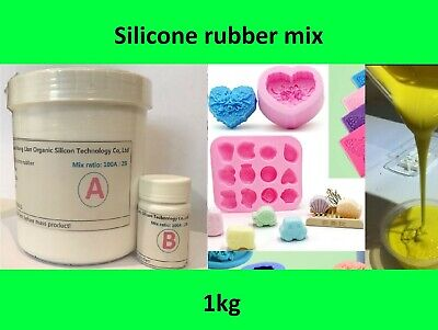 1KG Silicone Rubber Mould making Mix, White, Candles, Fishing lures, Resin