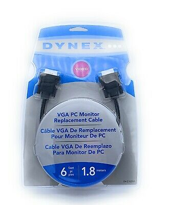 Replacement Cable GET 2 Dynex DX-C102111 VGA PC Monitor 6/' FT