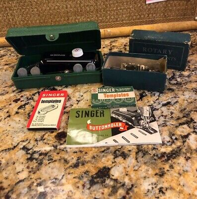 Singer Buttonholer, Rotary Attachments and Templates - 1948 Vintage