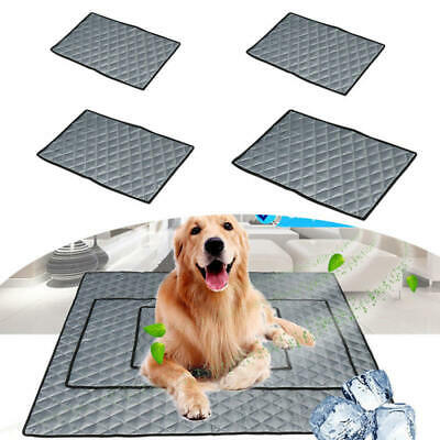 Pet Cooling Mat Gel Pad Non-Toxic Cool Cooling Bed for Summer Dog Cat Puppy ghj