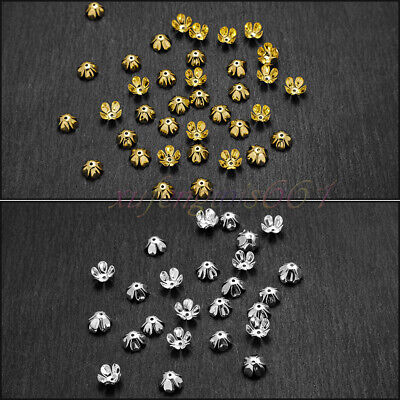 1250 PCS Wholesale Gold /Silver Plated Flower Bead Caps Jewelry Findings 9mm