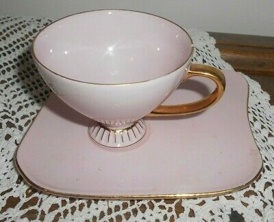 Vintage Westminister China Australia Pink and Gold Tennis Cup and Saucer set