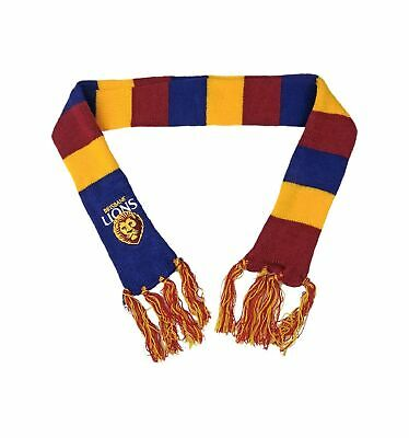 Brisbane Lions Official AFL Chunky Knit Winter Baby Scarf