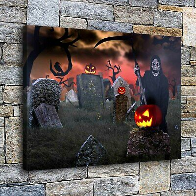 "Halloween HD Canvas print Painting Home Decor Picture Room Wall art 16""x22"""