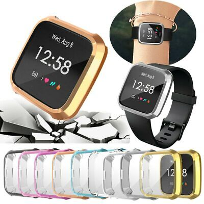 Slim Full Screen Protector Protect Frame Case Cover for Fitbit Versa Lite Watch