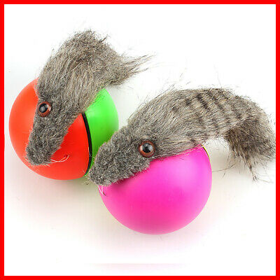 Dog/Cat Moving New! Weasel Funny 8x21cm Appears Rolling Ball Pet Toy Motorized