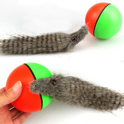 Dog/Cat Appears Pet Toy Rolling Ball New! Moving Weasel Motorized 8x21cm Funny