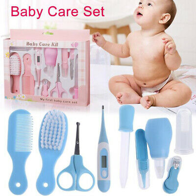 6/8/10 PC Baby Kids Nail Clipper Hair Brush Health Care Thermometer Grooming Kit