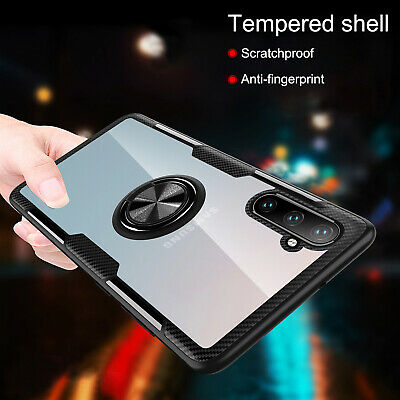 For Samsung Galaxy Note 10 Plus Hybrid Magnet Stand Ring Holder Slim Case Cover