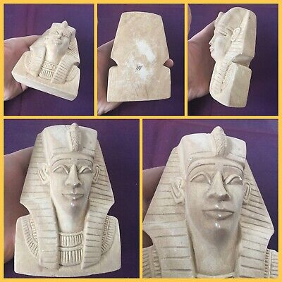 Very rare ancient large Egyptian Pharaoh bust