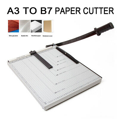 A3 Paper Cutter Office Guillotine Trimmer Manu motive A3 to B7 Size Durable AU