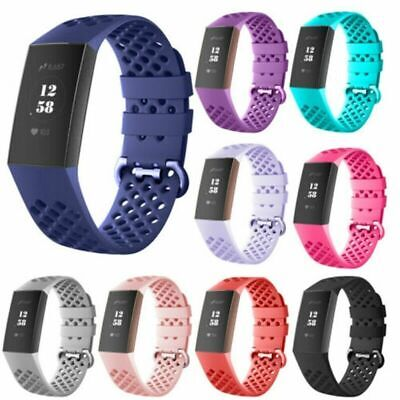 For Fitbit Charge 3 Watch Band Replacement Silicone-Breathable Bracelet Wri P2W2