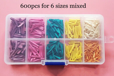 300pc Mixed Dental Interdental Composite Contoured Wood Wooden Wedges matrices