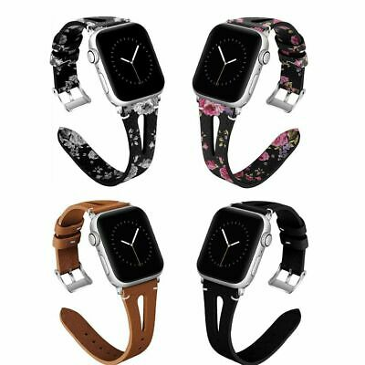 For iWatch Apple Watch Series 4/3/2/1 Leather Watch Band Strap 38/40/42/44mm IGK