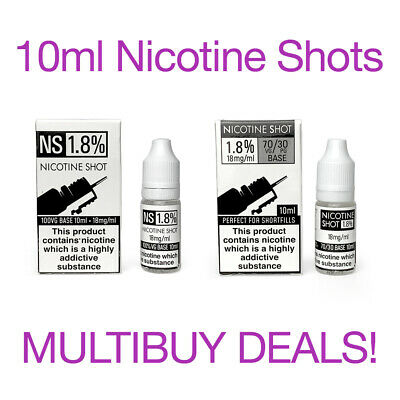 10ml 18mg Nicotine Shots for Shortfill E-Liquid creates 3mg 6mg NicShot Nic Shot