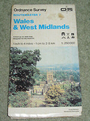 OS Ordnance Survey Routemaster 7 Map 1:250,000 Wales & West Midlands