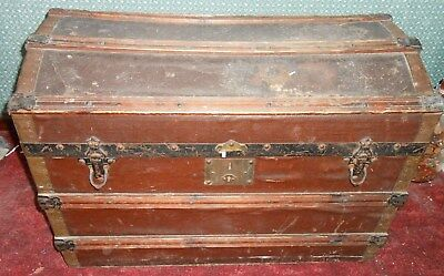 Vintage Dome Top Chest Steamer Trunk