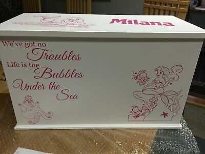 Toy Box Personalised  storage handmade Themed Little mermaid