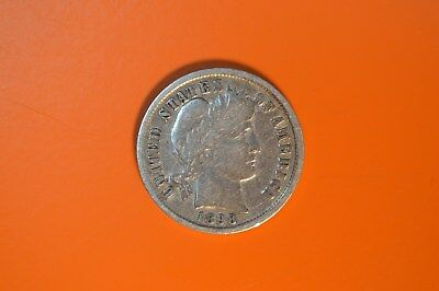 US 1 Dime Milled Silver Coin - 1898