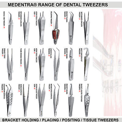 Dental Orthodontic Surgical Tissue Forceps Bracket Holding / Placing Tweezers CE