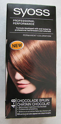 Coloration permanente * SYOSS  professional  4-8  CHATAIN CHOCOLAT * 100% NEUF