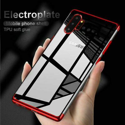 For Samsung Galaxy Note 10 Plus Electroplated Bumper Shockproof Soft Clear Case