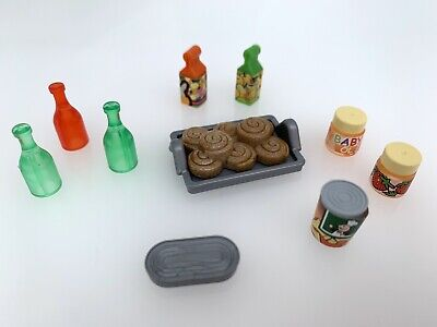 Playmobil Spare Food Grocery for shop Store supermarket House Geobra Tins Bottle