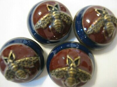 Gucci 4 buttons MAROON, BLUE,  bee 23 mm dome BUTTON THIS IS FOR four